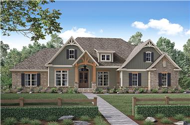 Front elevation of Country home (ThePlanCollection: House Plan #142-1170)