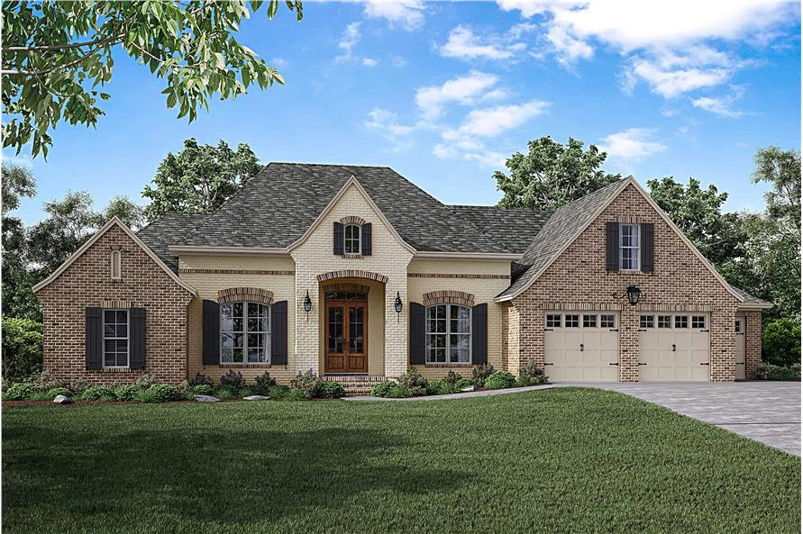 Front View of this 3-Bedroom,2487 Sq Ft Plan -2487