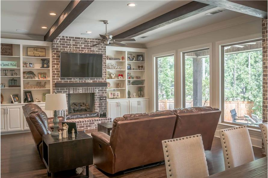 Great Room: Fireplace of this 3-Bedroom,2487 Sq Ft Plan -2487