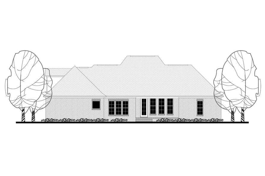 Home Plan Rear Elevation of this 4-Bedroom,2396 Sq Ft Plan -142-1172