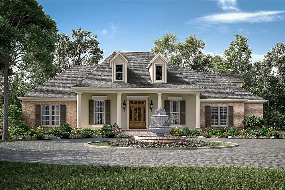 Front elevation of Traditional home (ThePlanCollection: House Plan #142-1172)