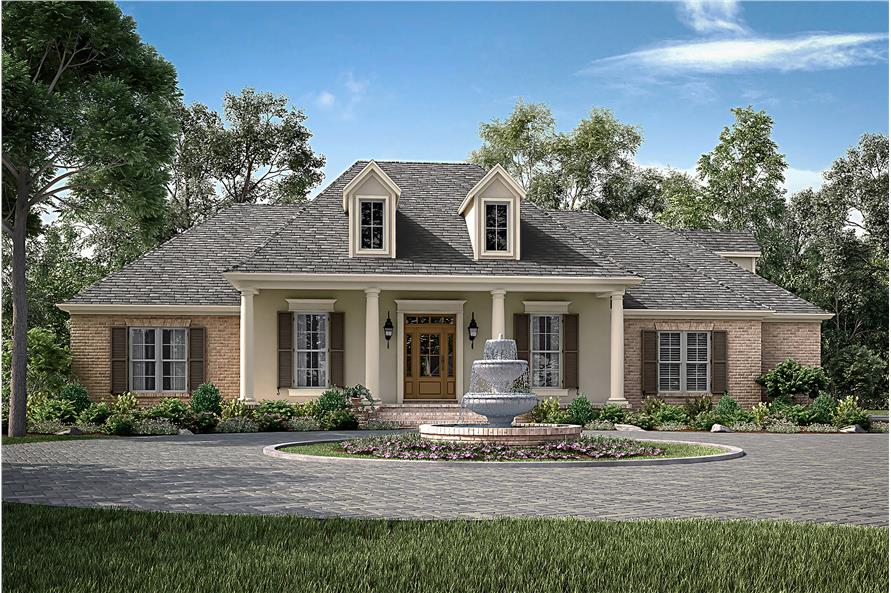 4-Bedroom, 2396 Sq Ft Traditional Home Plan - 142-1172 - Main Exterior