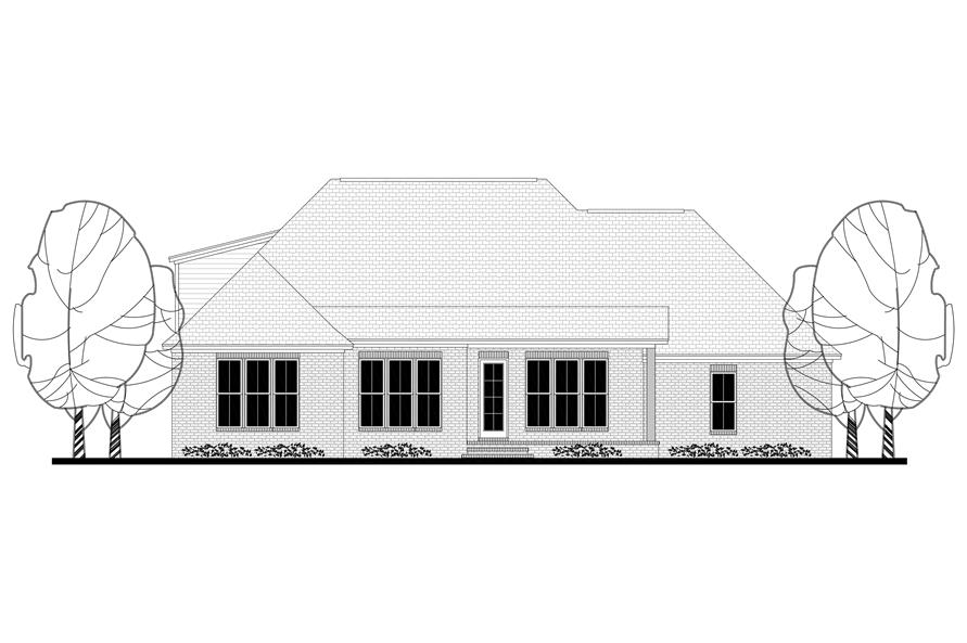 Home Plan Rear Elevation of this 4-Bedroom,2329 Sq Ft Plan -142-1173