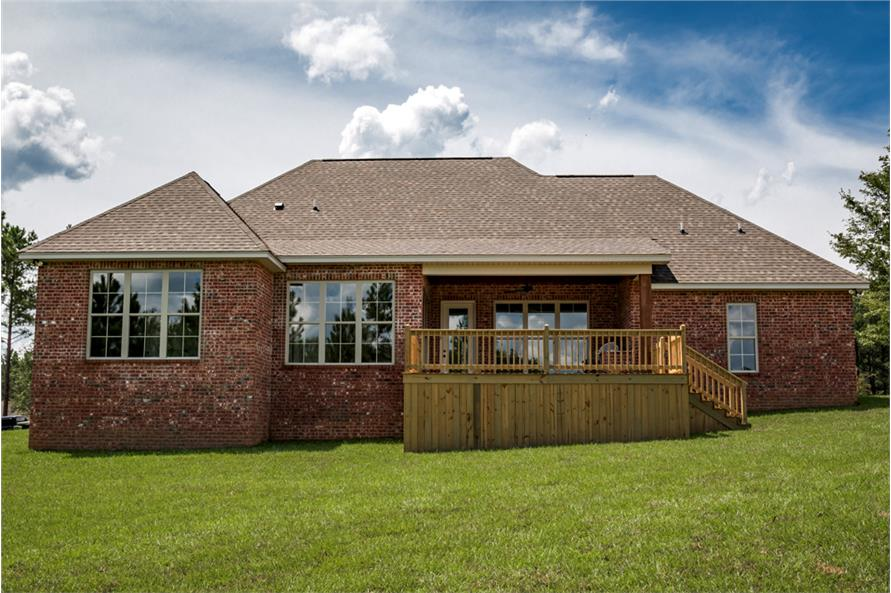Rear View of this 4-Bedroom,2329 Sq Ft Plan -2329