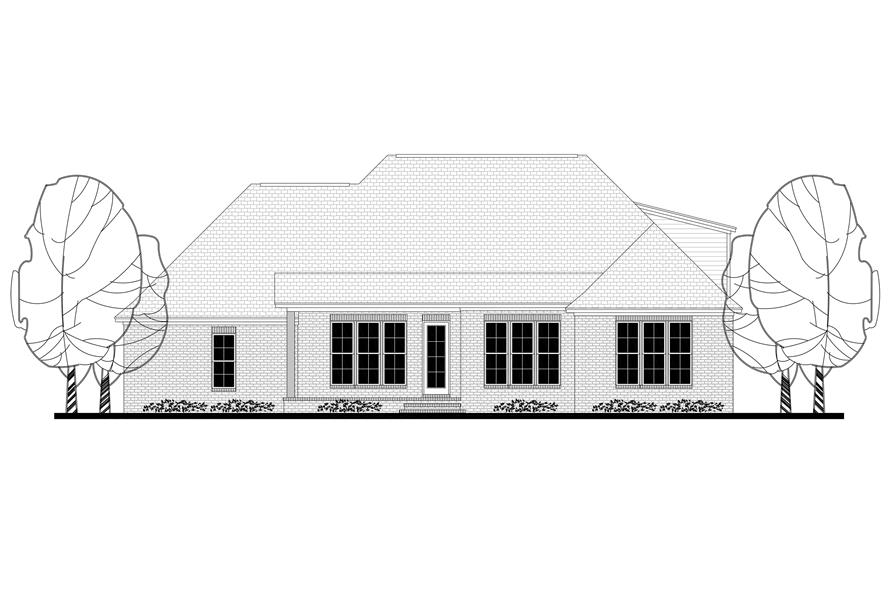 142-1174: Home Plan Rear Elevation