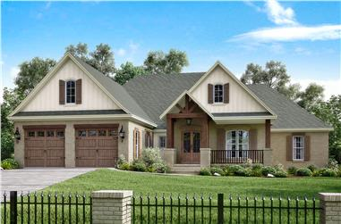 4-Bedroom, 2329 Sq Ft Traditional House Plan - 142-1174 - Front Exterior