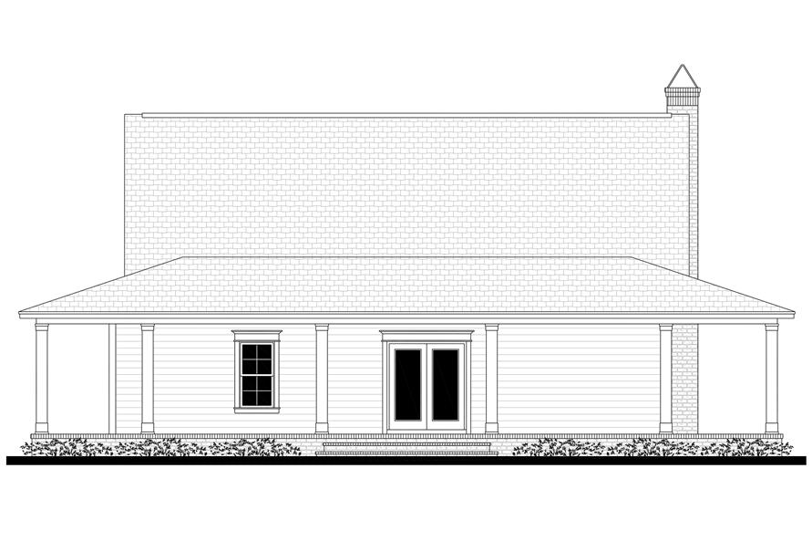 Home Plan Rear Elevation of this 3-Bedroom,2084 Sq Ft Plan -142-1175