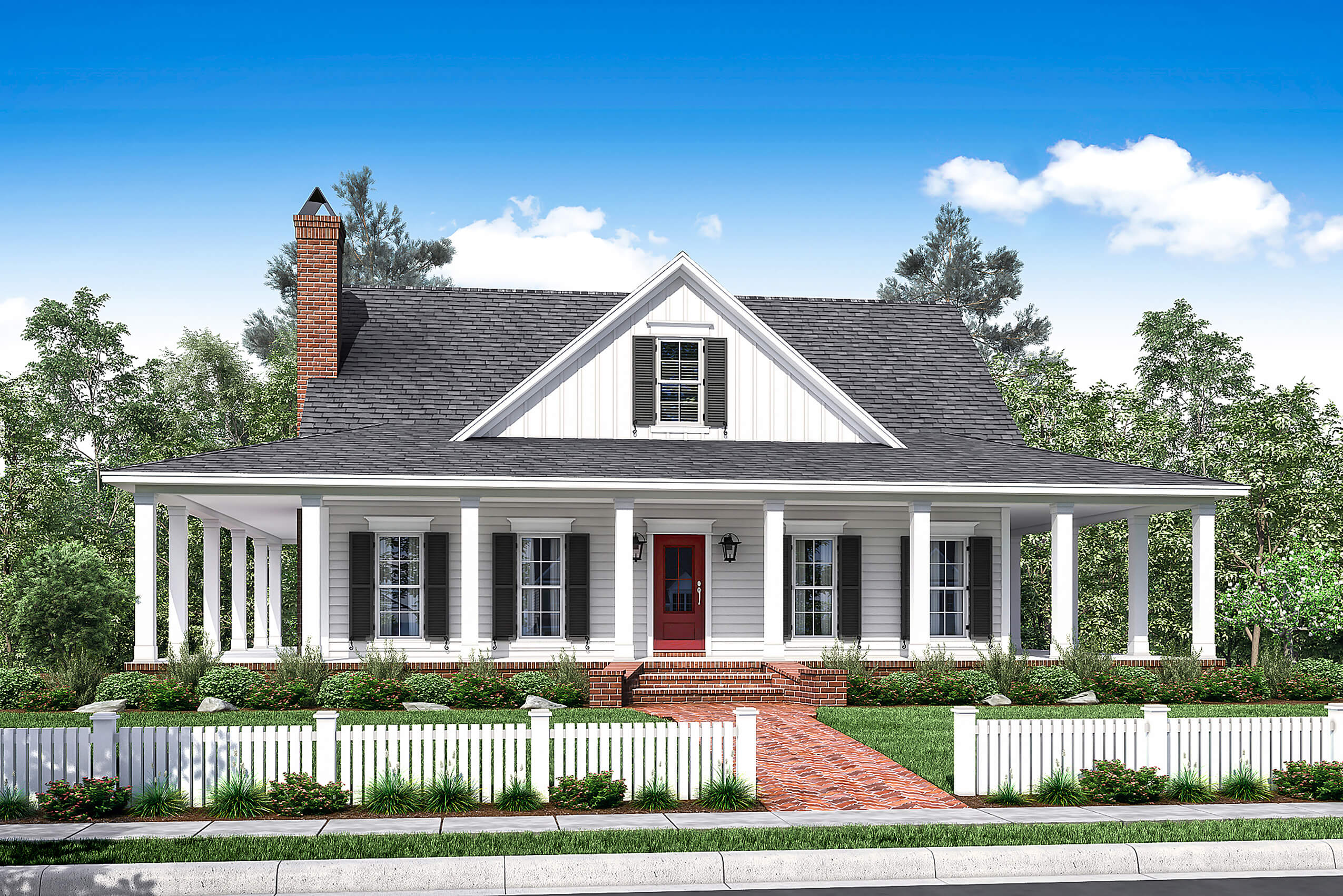 country style house plans with porches 3 bedrm 2084 sq ft southern home with wrap around porch 142 1175 1373