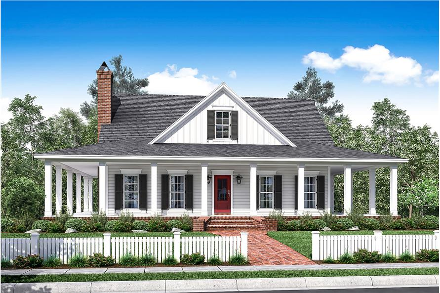 3-Bedroom, 2084 Sq Ft Southern House Plan - 142-1175 - Front Exterior