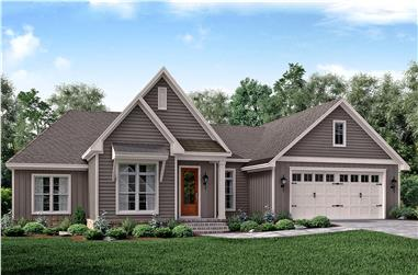 3-Bedroom, 2019 Sq Ft Traditional House Plan - 142-1178 - Front Exterior