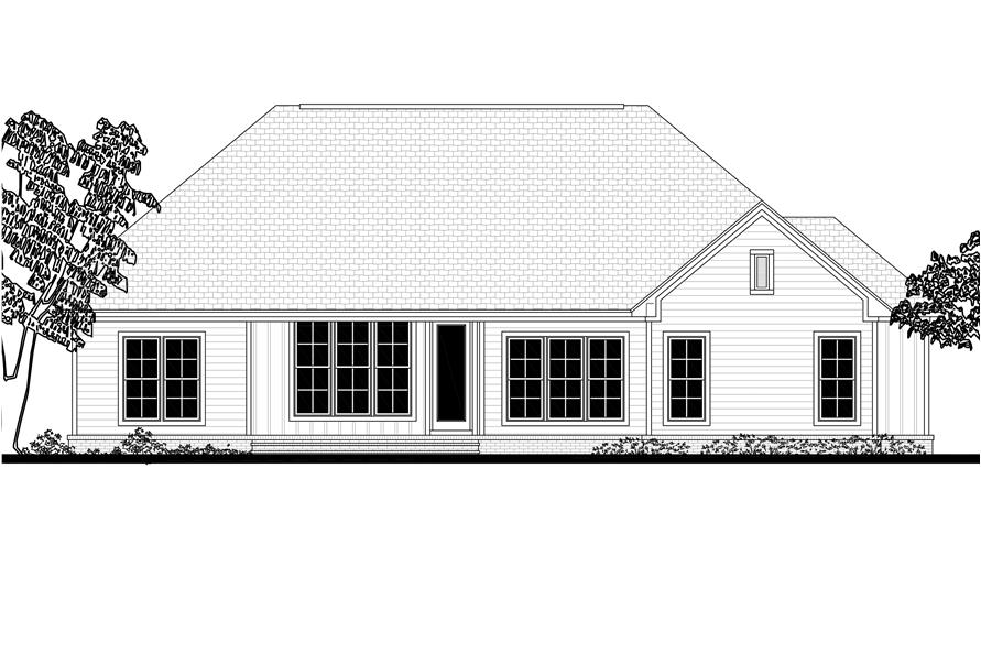 Home Plan Rear Elevation of this 3-Bedroom,2275 Sq Ft Plan -142-1179