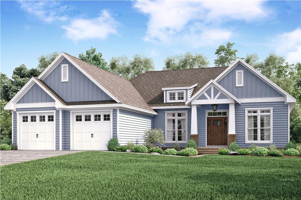 Craftsman home (ThePlanCollection: Plan #142-1179)
