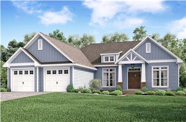 3-Bedroom, 2275 Sq Ft Craftsman House - Plan #142-1179 - Front Exterior