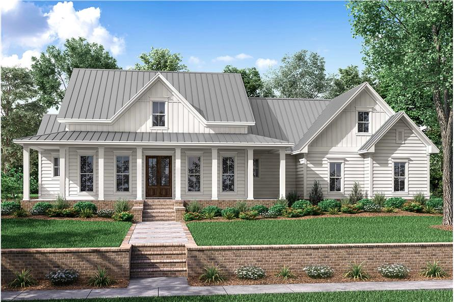Front View of this 3-Bedroom,2282 Sq Ft Plan -142-1180
