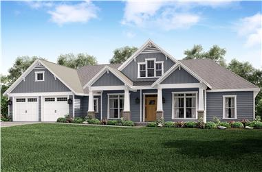 4-Bedroom, 2759 Sq Ft Country House Plan - 142-1181 - Front Exterior