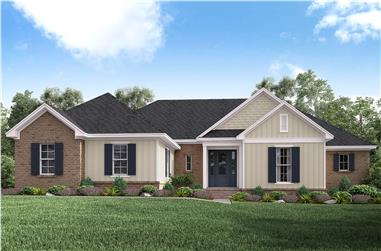 4-Bedroom, 2160 Sq Ft Traditional Home Plan - 142-1182 - Main Exterior