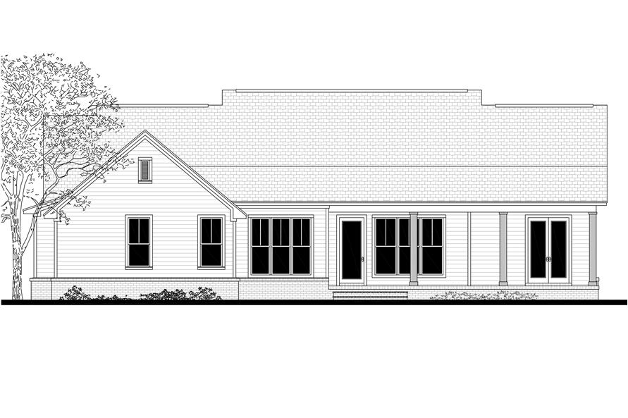 Home Plan Rear Elevation of this 3-Bedroom,1993 Sq Ft Plan -142-1183