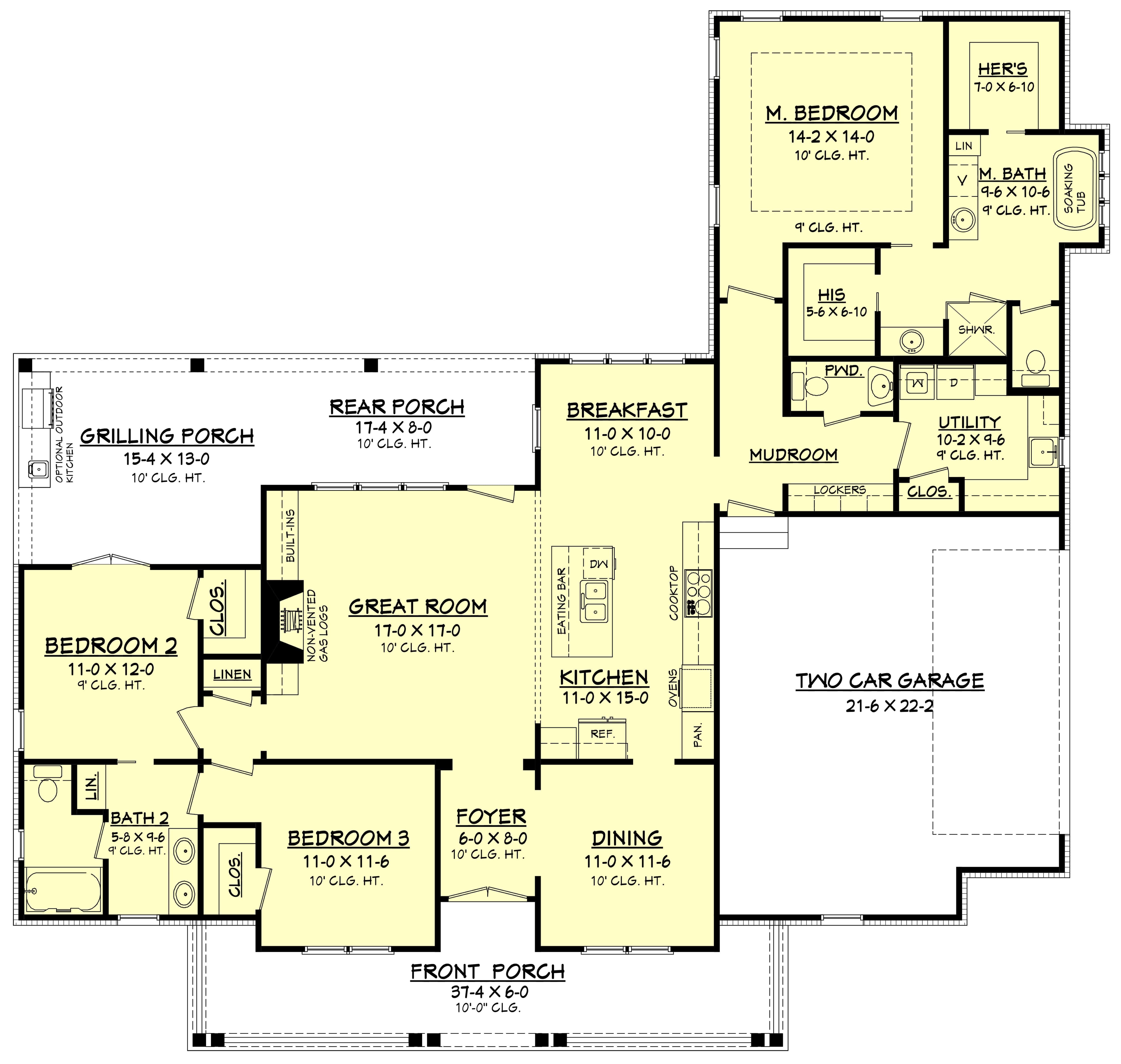 3 Bedrm 1993 Sq Ft Farmhouse House Plan 142 1183