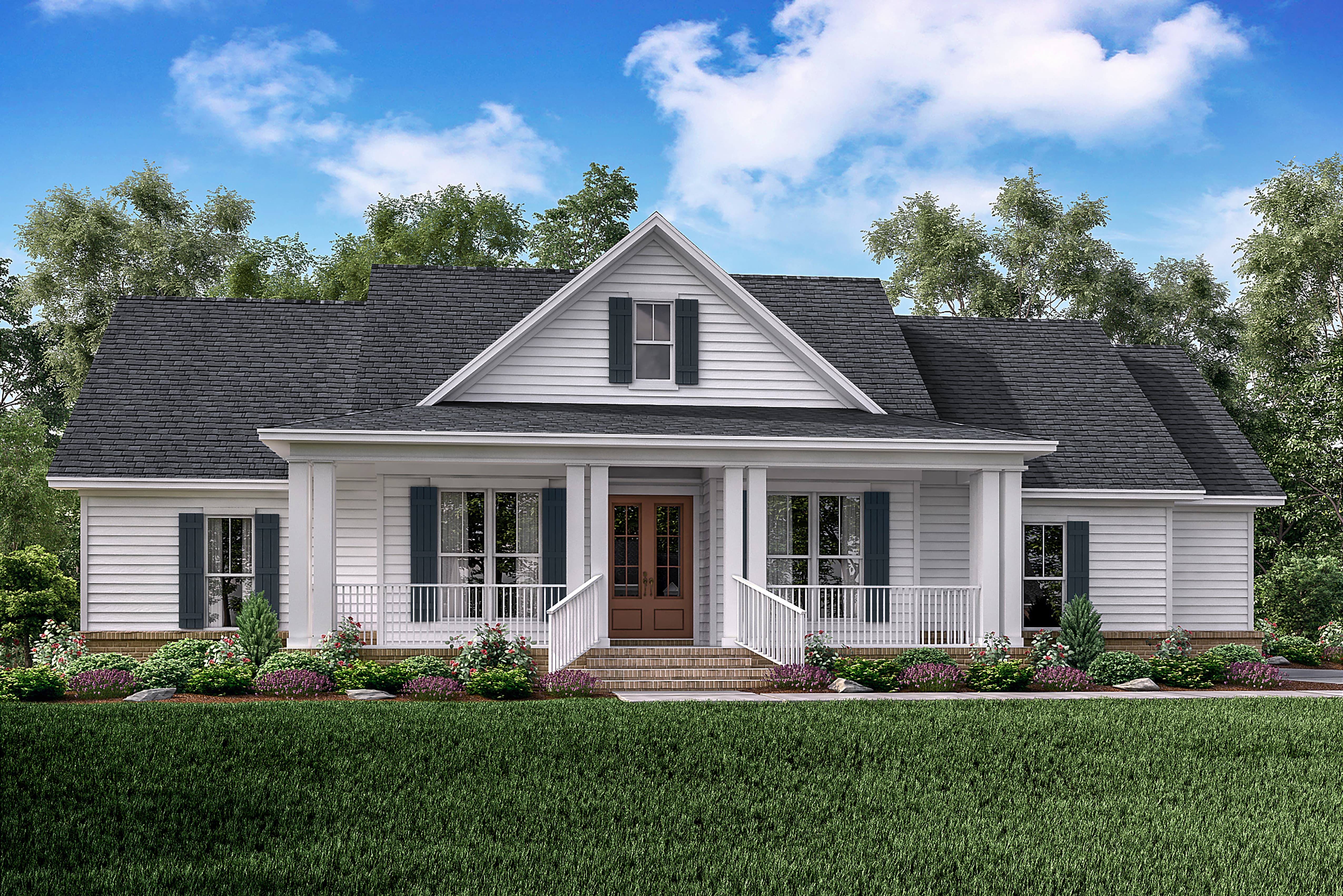 3 bedrm 1993 sq ft farmhouse house plan 142 1183 for 1 level farmhouse plans