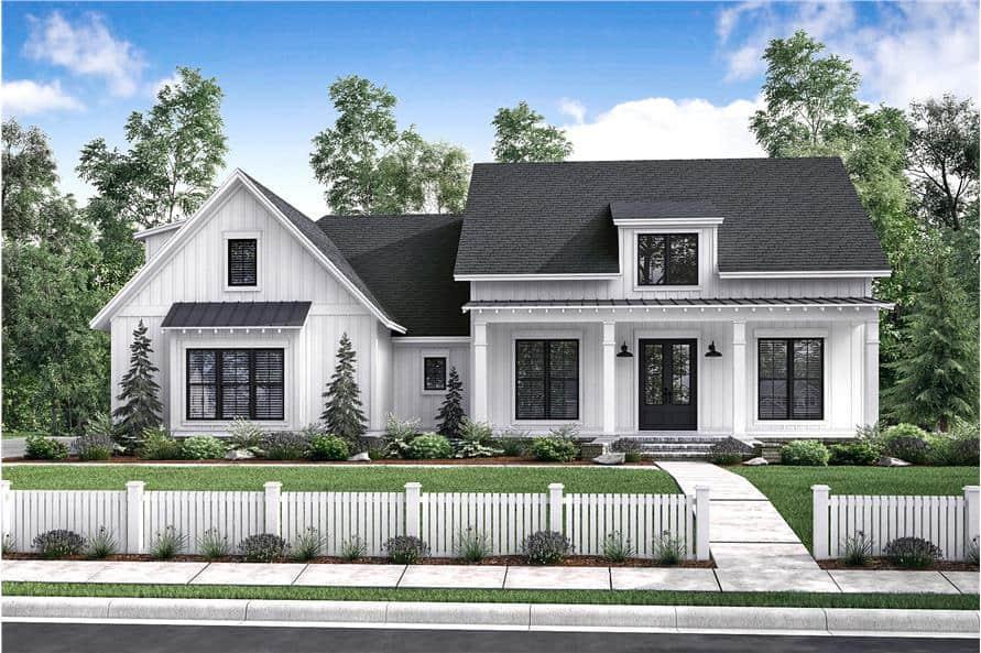 Home Plan Rendering of this 3-Bedroom,2077 Sq Ft Plan -2077