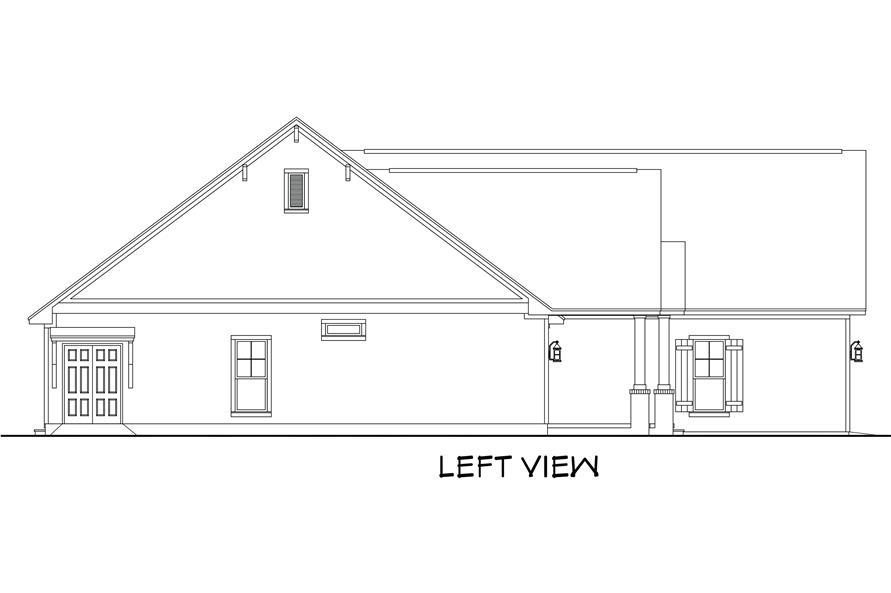 142-1185: Home Plan Left Elevation