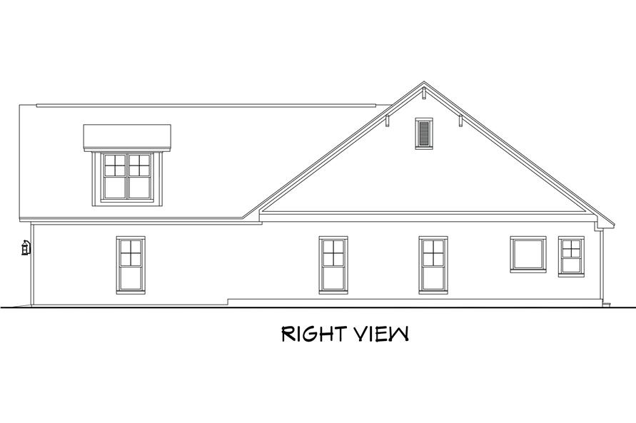 142-1185: Home Plan Right Elevation