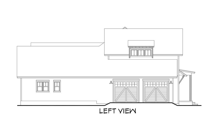142-1185: Home Plan Left Elevation