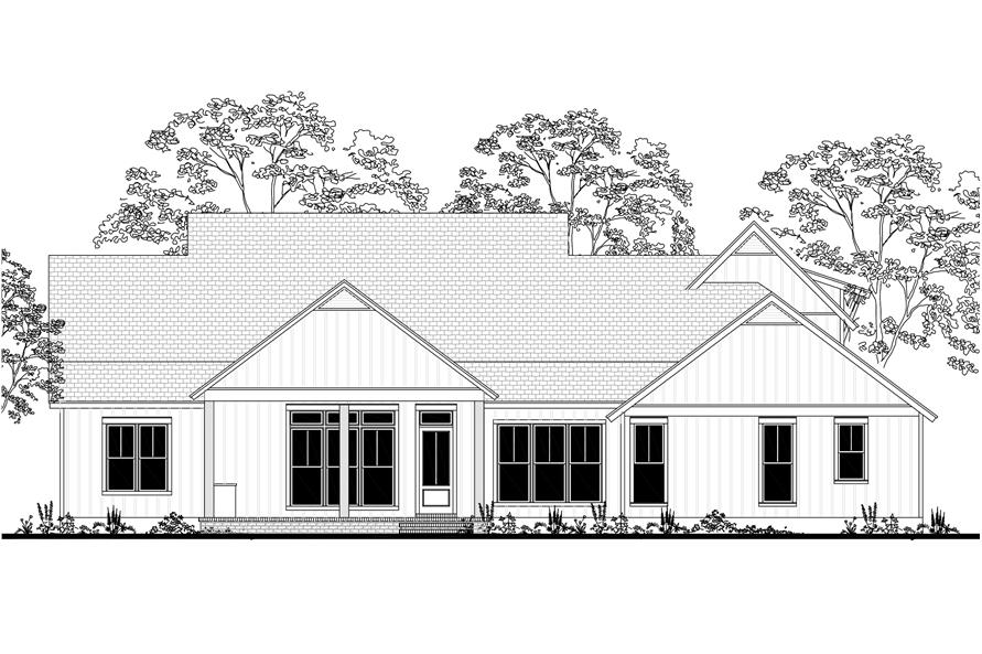 142-1185: Home Plan Rear Elevation