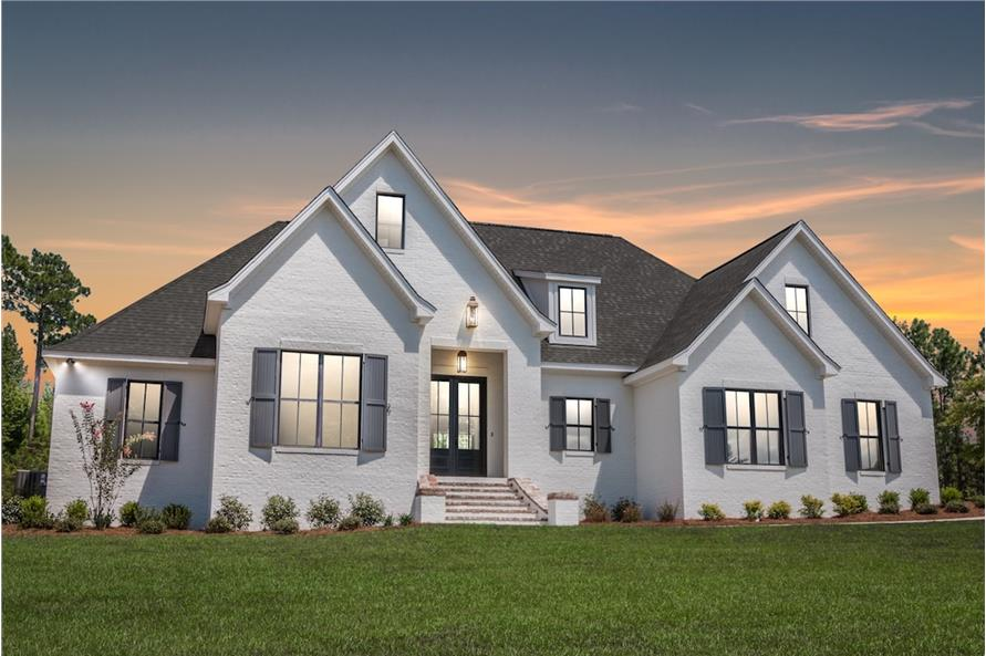 4-Bedroom, 2404 Sq Ft Country House Plan - 142-1188 - Front Exterior