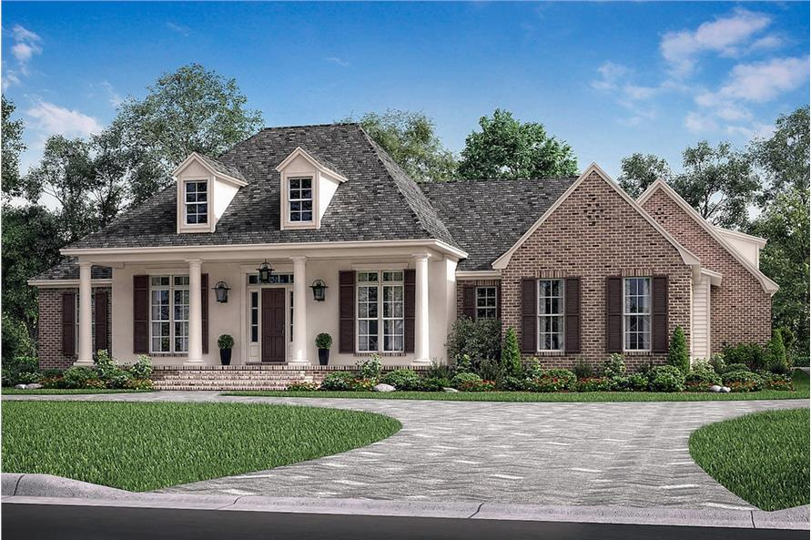 3-Bedroom, 2566 Sq Ft French Home Plan - 142-1190 - Main Exterior