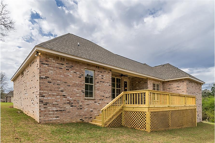 Rear View of this 4-Bedroom,2053 Sq Ft Plan -2053