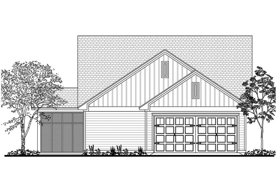 142-1193: Home Plan Rear Elevation