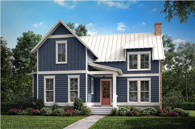 1-Bedroom, 1494 Sq Ft Farmhouse House Plan - 142-1195 - Front Exterior