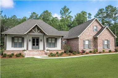 3-Bedroom, 2447 Sq Ft Acadian House Plan - 142-1197 - Front Exterior