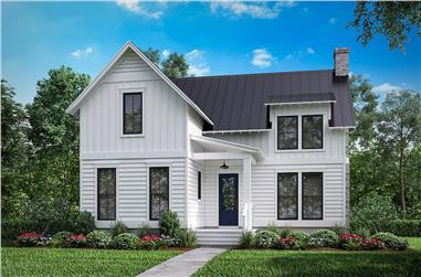 3-Bedroom, 1969 Sq Ft Farmhouse House Plan - 142-1198 - Front Exterior
