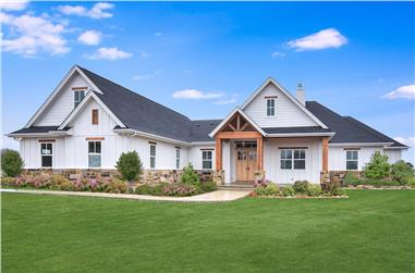 5-Bedroom, 3311 Sq Ft Transitional Farmhouse - Plan #142-1199 - Front Exterior