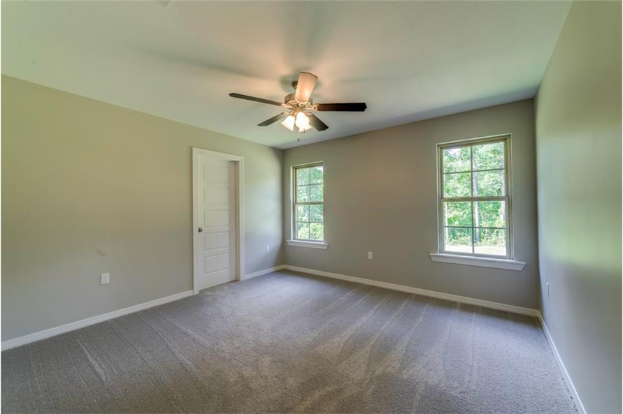 Master Bedroom of this 3-Bedroom,1232 Sq Ft Plan -1232