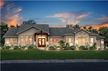 3-Bedroom, 2920 Sq Ft Farmhouse House Plan - 142-1203 - Front Exterior