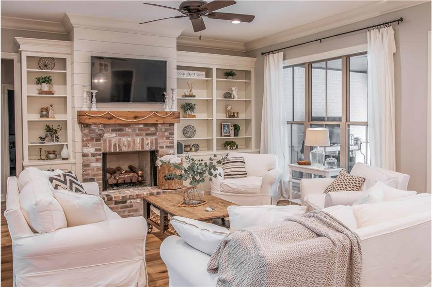 Great Room: Fireplace of this 4-Bedroom,2373 Sq Ft Plan -2373