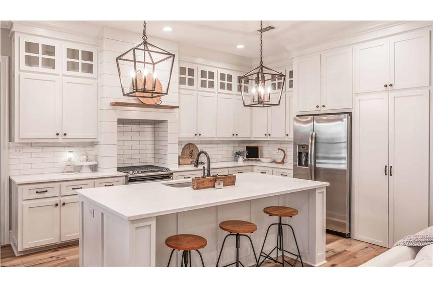 Kitchen: Breakfast Bar of this 4-Bedroom,2373 Sq Ft Plan -2373