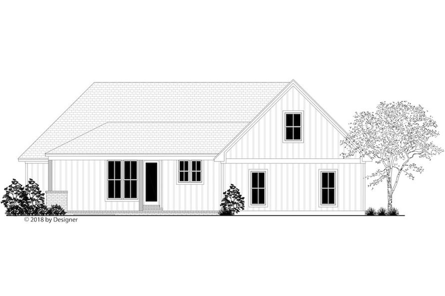 Home Plan Rear Elevation of this 3-Bedroom,2201 Sq Ft Plan -142-1205