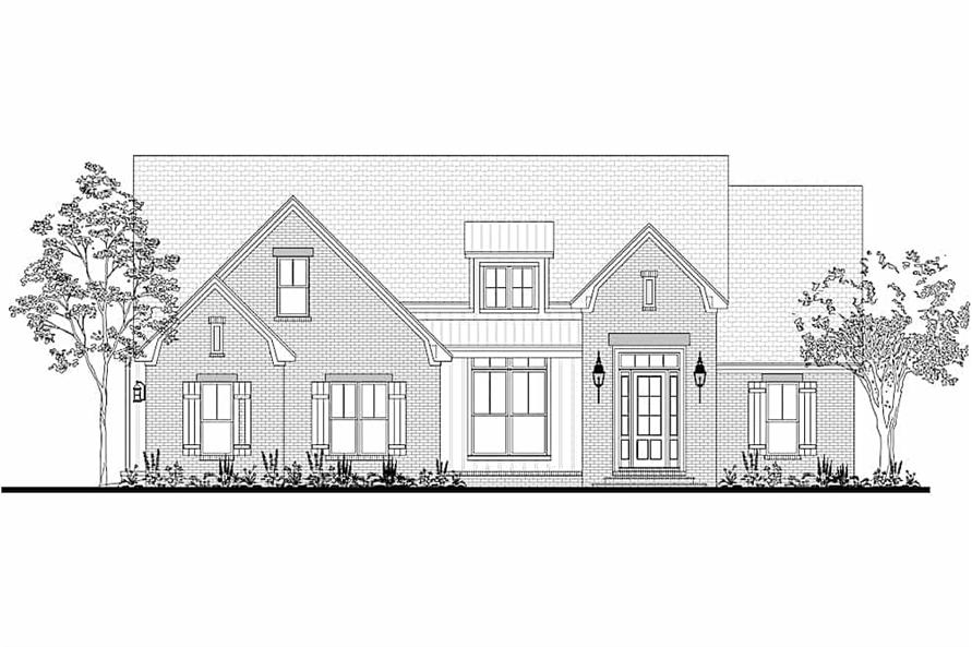 Home Plan Front Elevation of this 3-Bedroom,2165 Sq Ft Plan -142-1208