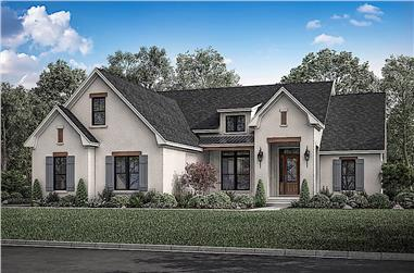 3-Bedroom, 2165 Sq Ft Farmhouse Home Plan - 142-1208 - Main Exterior