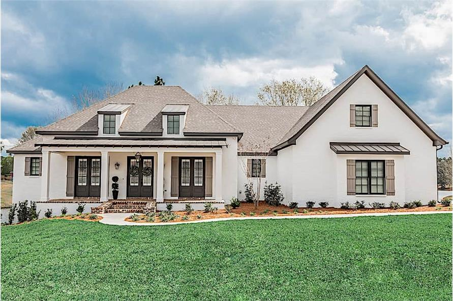 3-Bedroom, 2854 Sq Ft French House Plan - 142-1209 - Front Exterior