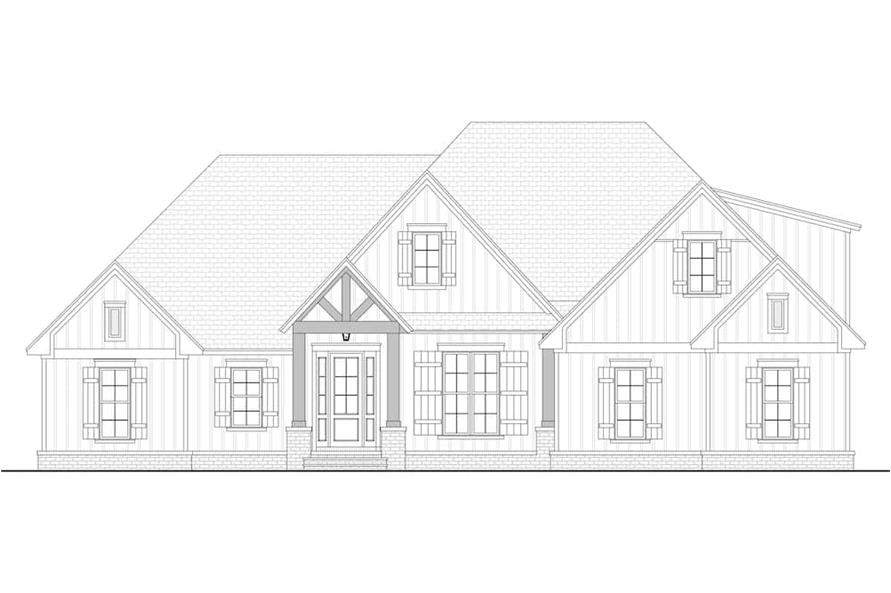 Home Plan Front Elevation of this 3-Bedroom,2358 Sq Ft Plan -142-1213