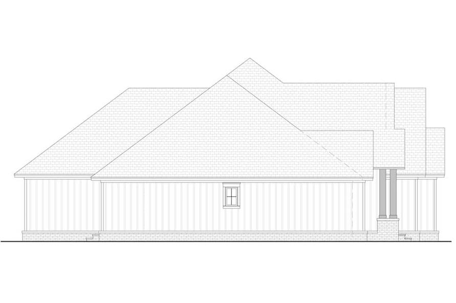 Home Plan Left Elevation of this 3-Bedroom,2358 Sq Ft Plan -142-1213