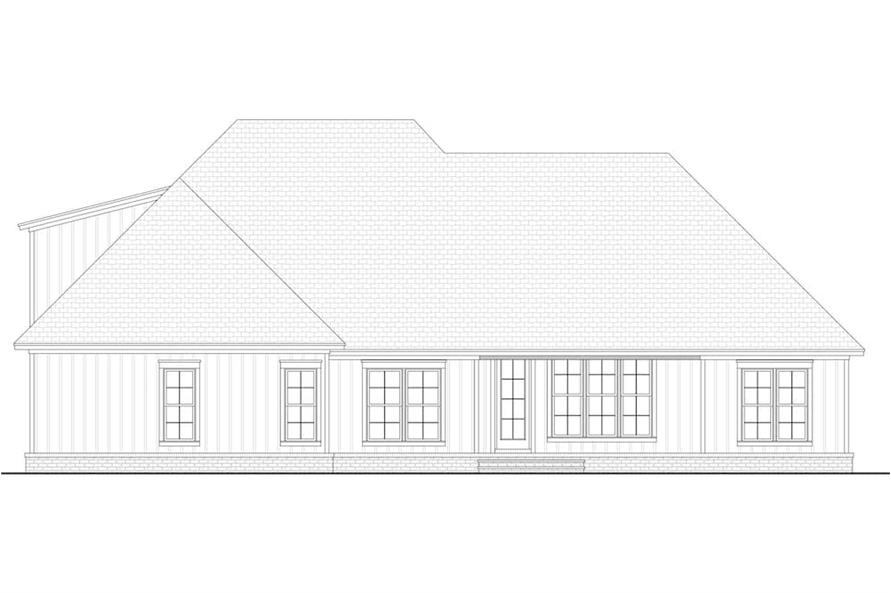 Home Plan Rear Elevation of this 3-Bedroom,2358 Sq Ft Plan -142-1213