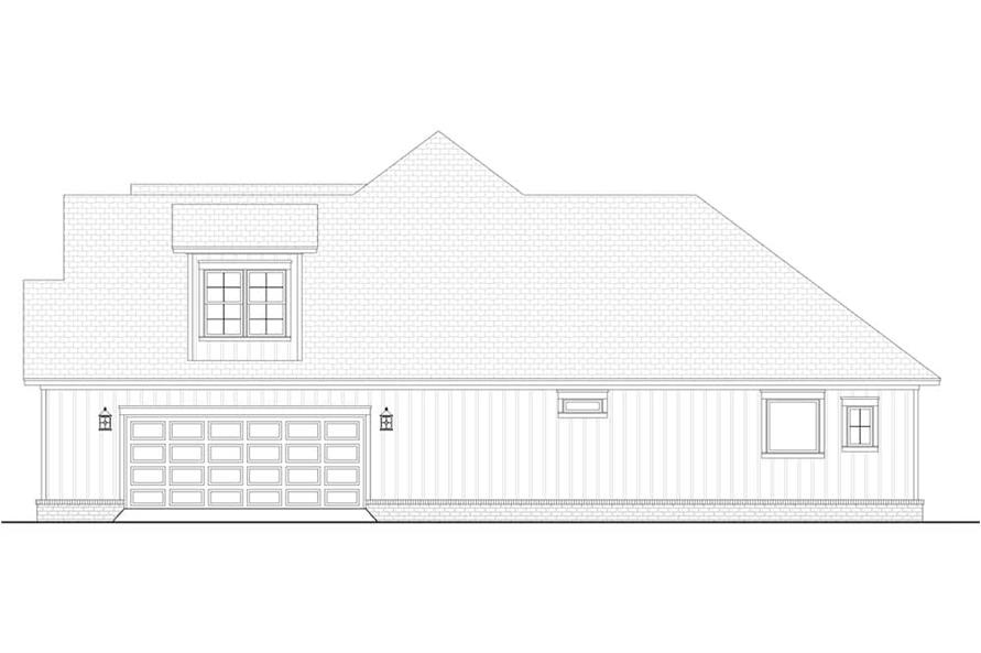 Home Plan Right Elevation of this 3-Bedroom,2358 Sq Ft Plan -142-1213