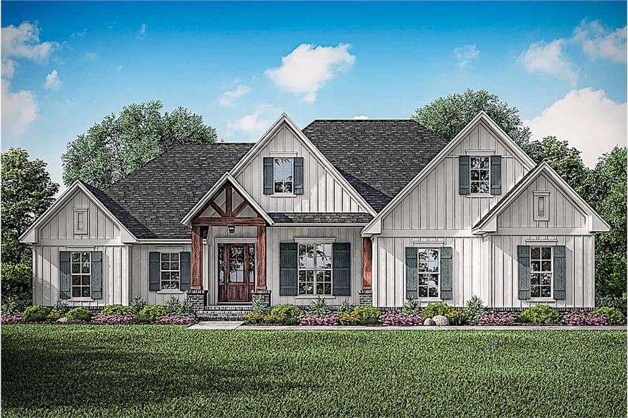 3-Bedroom, 2358 Sq Ft Farmhouse House - Plan #142-1213 - Front Exterior