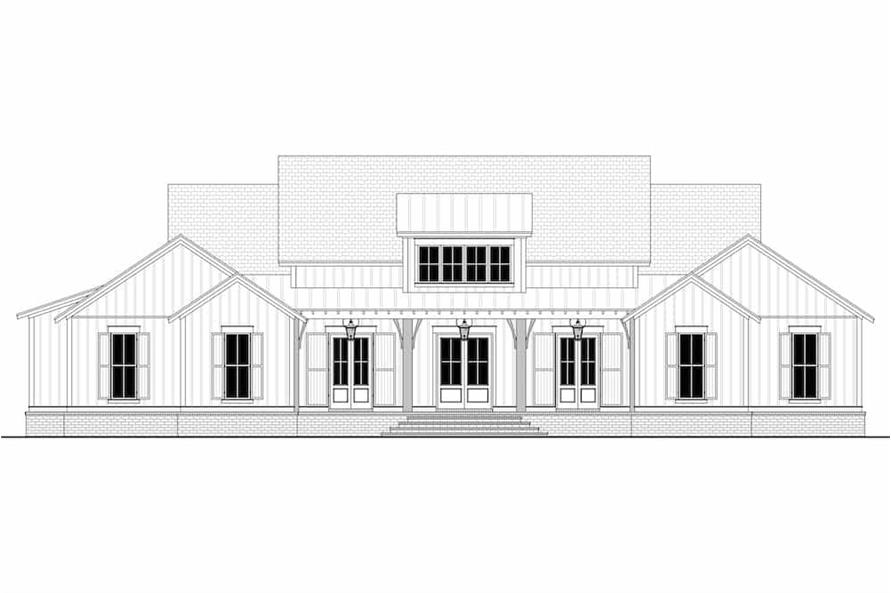 Home Plan Front Elevation of this 4-Bedroom,4998 Sq Ft Plan -142-1216